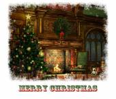 Christmas Eve Card, 3d CG — Stock Photo