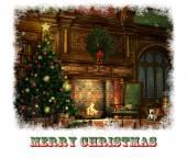 Christmas Eve Card, 3d CG — Stockfoto