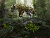 Jaguar on the prowl, 3d CG — Foto de Stock