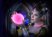 The luminous Sphere, 3d CG — Stock Photo