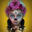 Little Sugar Skull Girl, 3d CG — Stock Photo #72633539