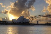 Sydney Harbour with Opera House and Bridge — Stock Photo