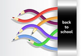 Back to school vector with flexible pencils — Stock Photo