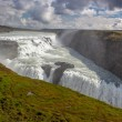 View on big Gullfoss waterfall on Iceland — Stock Photo #53324213