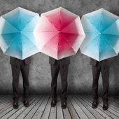 Umbrella background business concept — Stock Photo