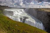 View on big Gullfoss waterfall on Iceland — Stockfoto