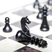 Chess figures - strategy and leadership — Photo