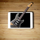 Tablet music concept with blank screen — Stock Photo
