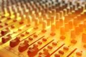 Music studio mix console — Stock Photo