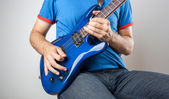 Electric Guitar Player — Stock Photo