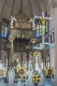 室内的大教堂的圣徒奥尔加和伊丽莎白,利沃夫,乌克兰 — 图库照片