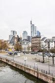 Embankment of river Main, Frankfurt am Maine, Germany — Photo