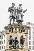 Johannes Gutenberg monument elements, Frankfurt am Main, Germany. — Stock Photo