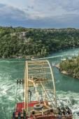 Cable car over Niagara River, Ontario, Canada — Foto de Stock