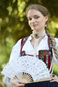 Woman in medieval dress — Stock Photo