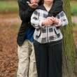 Down syndrome couple in love — Stock Photo #56504855