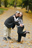 Down syndrome couple in love — Stock Photo