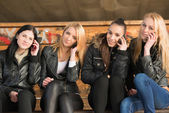 Four beautiful girls — Stock Photo