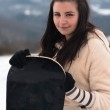 Female snowboarder outdoors — Stock Photo #61822705