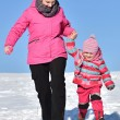 Mother and daughter nice winter scene — Stock Photo #65008335