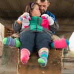 Down syndrome couple — Stock Photo #67279703