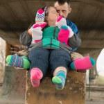 Down syndrome couple — Stock Photo #67279727