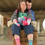 Down syndrome couple — Stock Photo #67279745