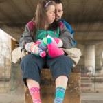 Down syndrome couple — Stock Photo #67279787
