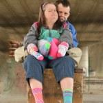 Down syndrome couple — Stock Photo #67279837
