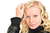 Blonde sexy vrouw portret — Stockfoto