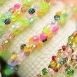 Colour bracelets from beads — Stock Photo #77080011
