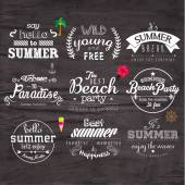 Typography Summer Holiday Badge Design — Vetorial Stock