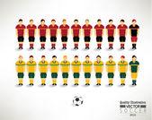 Creative Soccer Football Team Design Illustration — Stock Vector