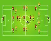 Creative Soccer Football Team Design Illustration — Cтоковый вектор