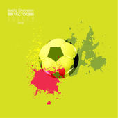 Creative Soccer Football Design Illustration — Cтоковый вектор