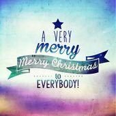 Merry Christmas Quote Vector Illustration Design — Stockvector