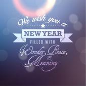 Happy New Year Greetings Vector Design — Stockvector