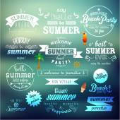 Typography Summer Holiday Quote Vector Design — Stok Vektör