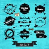 Hipster Label and Badge Icon Vector Design — Stock Vector