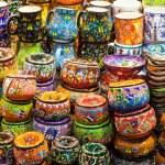 Classical Turkish ceramics on the market — Stock Photo #61234909