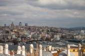 View from Suleymaniye mosque to Bosphorus,  Istanbul — Stock Photo