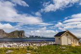 Scenic beach on Lofoten islands — Stock Photo