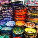 Classical Turkish ceramics on the market — Stock Photo #63261011