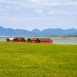 Norwegian traditional boathouse in countryside — Stock Photo #65224869