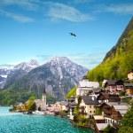 Beautiful summer Alpine Hallstatt Town — Stock Photo #66935073