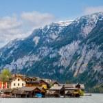 Beautiful summer Alpine Hallstatt Town — Stock Photo #66935173