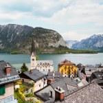 Beautiful summer Alpine Hallstatt Town — Stock Photo #66935315