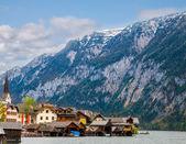 Beautiful summer Alpine Hallstatt Town — Stock Photo