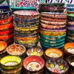 Classical Turkish ceramics on the market — Stock Photo #69936803