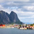 Scenic town of Reine  village, Lofoten islands, Norway — Stock Photo #71342187